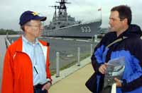 Nuckols briefs DASN  Don Schregadus at the Washington Navy Yard